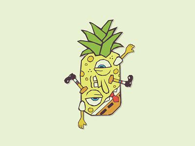 Spongebob Pineapple Pants vector character cartoon spongebob illustration