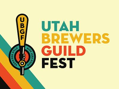 UBGF Branding logo tap handle festival beer festival beer identity design brand identity branding