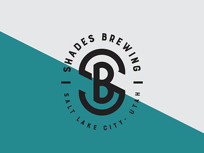 Shades Brewing Logo utah salt lake city brewery branding brewery logo beer logo branding