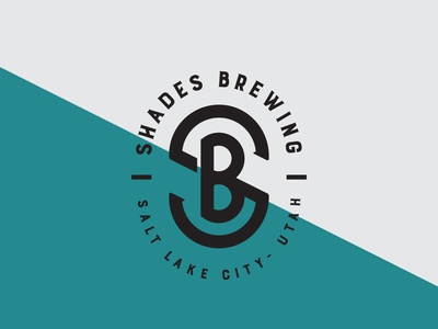 Shades Brewing Logo utah salt lake city brewery branding brewery logo beer logo branding