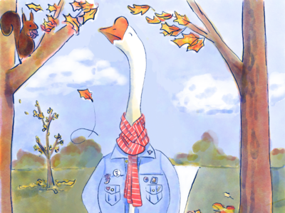 Fall Aesthetic Goose
