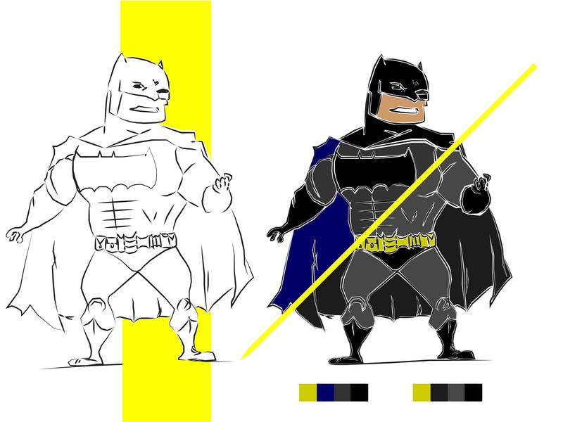 Batman || Caricature || Vector Art