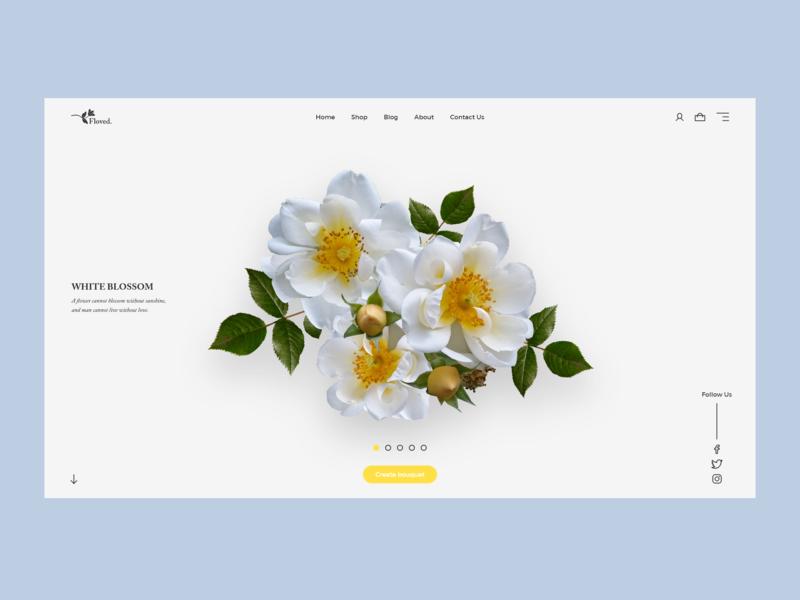 Floved. Online Store Concept vector website web flat ux ui design