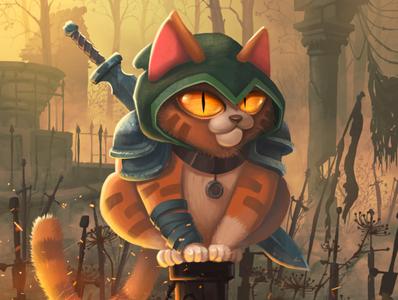 Cat Dark Souls fire sword darksouls dark cat