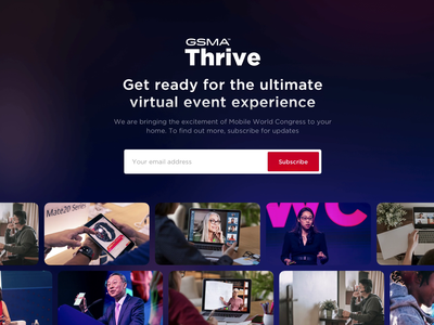 Landing Page for a new virtual conference platform video virtual conference conference event virtual