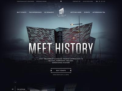 Titanic Homepage Header belfast titanic header homepage