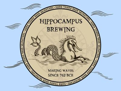 Hippocampus Brewing (Coaster Design for Sticker Mule)