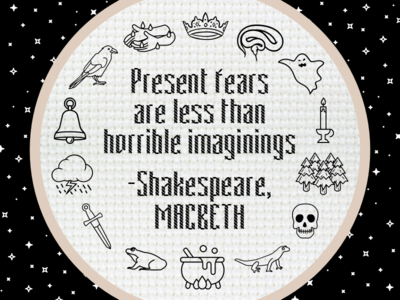 """Present fears are less than horrible imaginings"""