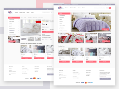 Concept of internet-store of bed textile.