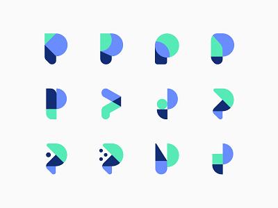 P's branding letter p logo