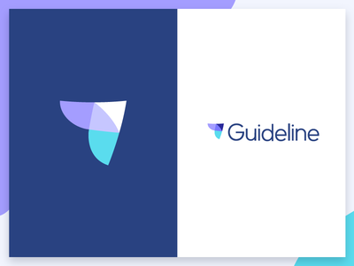 Guideline logo design icon arrow logo guideline