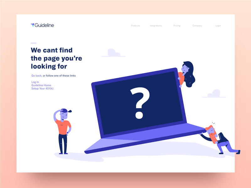 404 page laptop guideline page illustration error 404