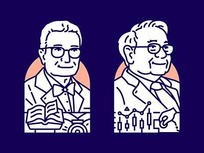 Economic giants pt.1 - Samuelson // Buffett samuelson buffett illustration