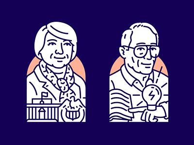 Economic giants pt.2 - Yellen // Benna portrait illustration janet yellen yellen benna meeting room