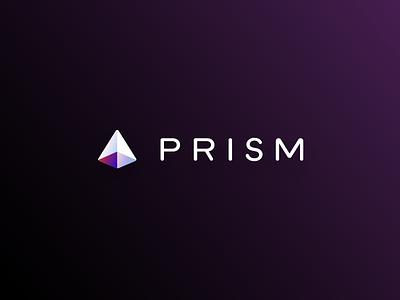 Prism Logo pyramid prism logo