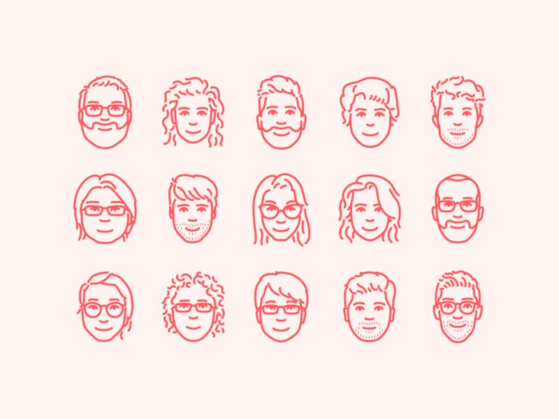 Airbnb portraits airbnb icon face faces portrait illustration