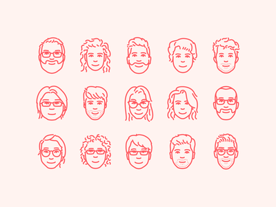 Airbnb portraits airbnb icon face faces portrait illustration