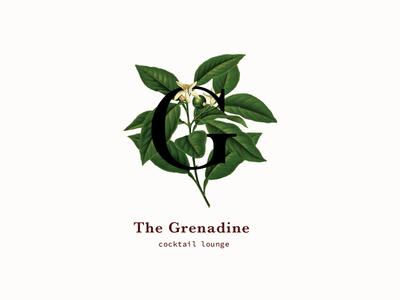 The Grenadine logo typography logo challenge identity branding logo