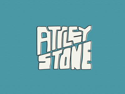 Attley Stone logo hand drawn illustration logo identity branding graphic design custom font hand drawn design