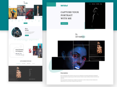 Mridul - Photography Landing Page UI Concept Design.