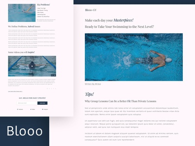 Blooo-GY--- Blog Page Design