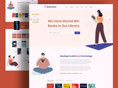 Booky Store...Landing Page Design