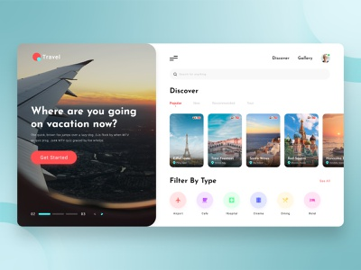 Travel App Design Concept startup mvp booking adobexd minimal elegant clean website web app design web app travel agency travel app travel user interface ui design