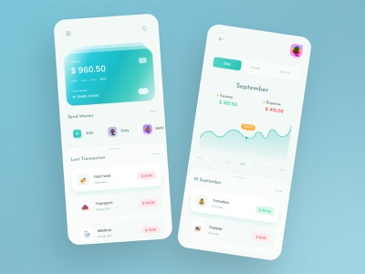 Online Banking Mobile App bank card wallet bank ui banking app bank finance app finances finance payment app debit card creditcard adobe xd money app chart flat design minimal clean ui 2021 trend ui trend