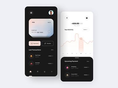Finance - Mobile Banking App app design mobile credit card finances financial finance bank wallet app wallet fintech bank app mobile ui mobile app cards online banking banking app