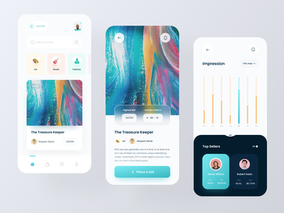 NFT Mobile App btc tokens cryptocurrency app design nft collections blockchain nft ux ui clean minimal bitcoin doge trade nft crypto user interface uiux ui design mobile app auction app