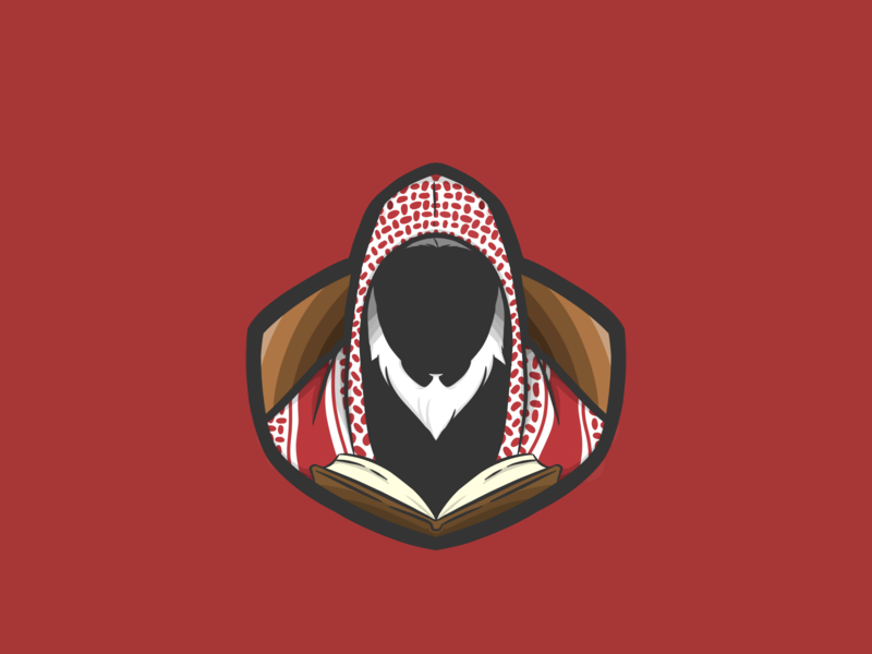 Ulama Kibar muslim arabian arab vector illustation logo design desain logo illustrator logotype