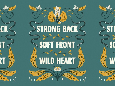 Strong Back Soft Front Wild Heart customlettering web print quote typedesign type photoshop handlettering typography lettering challenge lettering artist lettering lettering art illustration graphic design design