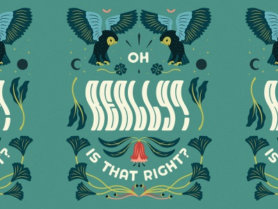 Oh Really? photoshop graphic design type handlettering customlettering typography lettering artist lettering art lettering illustration