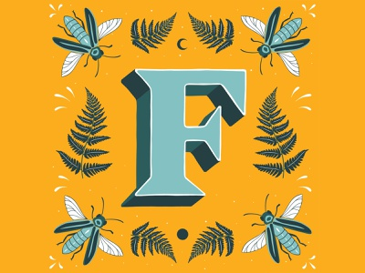 F - 36 Days of Type lettering artist lettering challenge typedesign typography type handlettering lettering customlettering illustration 36daysoftype21 36daysoftype