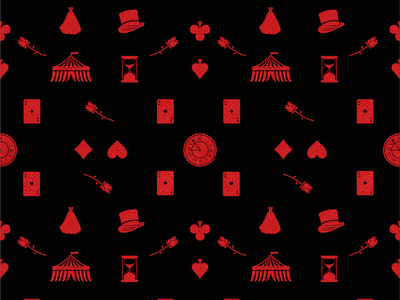 Caraval Themed Seamless Pattern