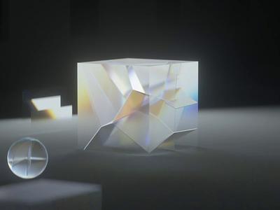 Refraction studies texture cube glass c4d reflections elegant simple motion cinema 4d octane render 3d clean futuristic prism
