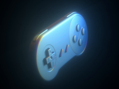 SNES nintendo gaming vaporwave retrofuture animation loop motion procedural shaders octane cgi render video game 3d c4d