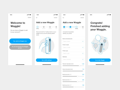 Waggle iOS app design