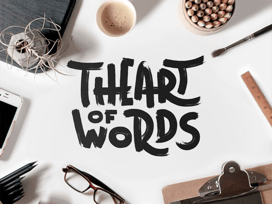 The Art of Words art words lettering calligraphy