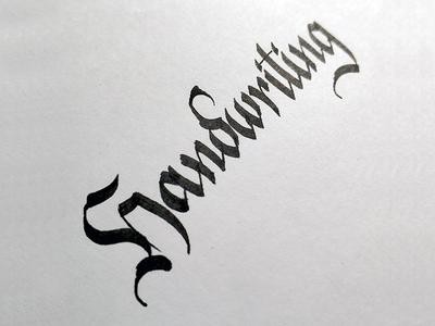 Handwriting gothic hand-writing calligraphy