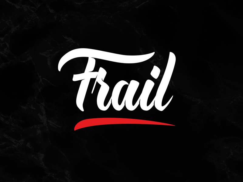 Frail typography design logo art letters illustration vector lettering