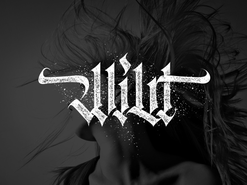 WIld logo vector custom letters gothic calligraphy