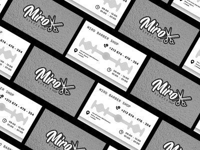 Miro's Barber Shop® Business card
