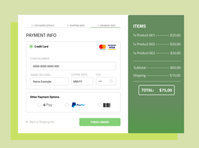 Daily UI #3 - Payment Check Out
