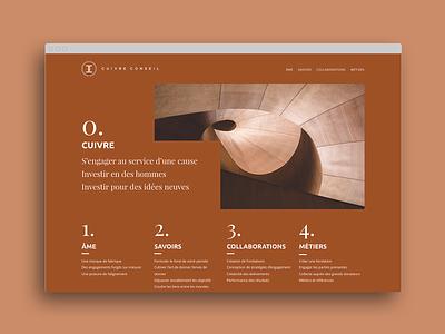 Cuivre Conseils website lepressing ergonomics webdesign typography corporate identity website branding design ui ux