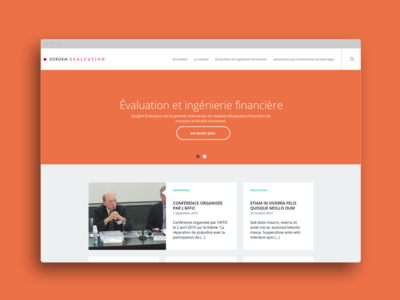 Sorgem Évaluation website corporate financials webdesign ux website