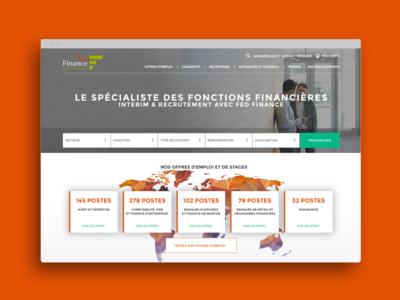 FED Finance website fedgroupe website design web ui ux