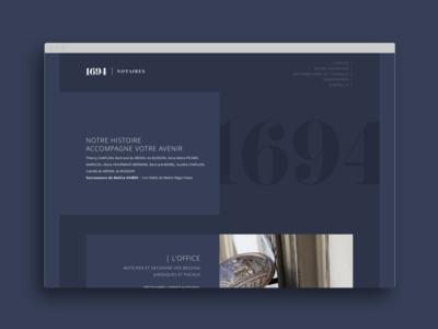 1694 Notaires new website wordpress design web corporate branding identity