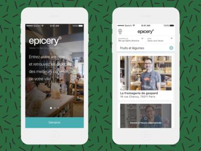 iOS App for Epicery order grocery iphone apple ux ui design ergonomics app ios