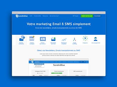 Sendinblue features page icon webdesign